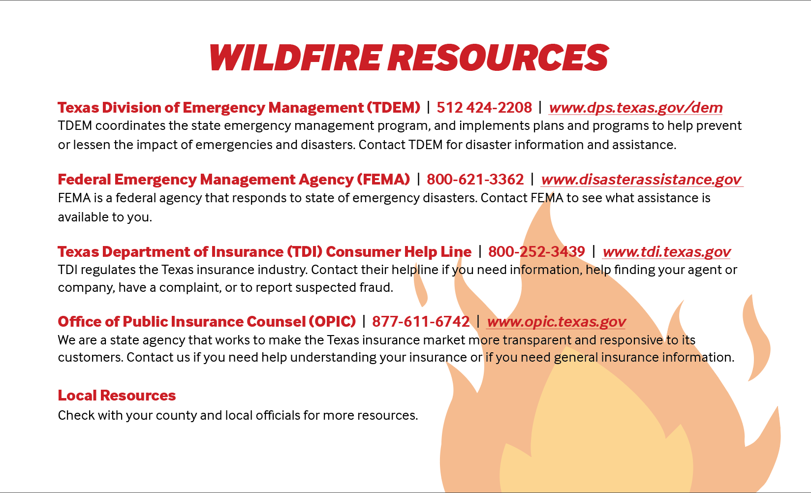 Wildfire Postcard